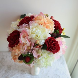 Wreaths Manor*Handmade jewelry bouquet*custom made ​​* ~ European suitors bouquet rose bouquet ~ fruit ~ NO.141