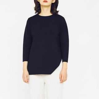 KOOW Midnight eight-sleeve hem slant sweater German Yangtze worsted wool hooded sweater