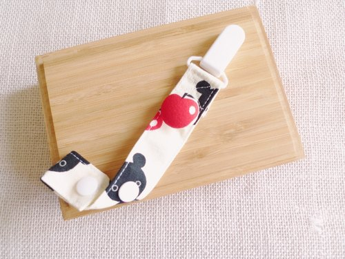 Apple Bear Rice - buckle pacifier chain / toy chain