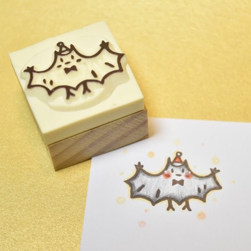 Christmas limited Christmas small bat manual rubber stamp