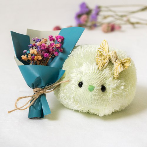 Soft little hedgehog with dry bouquet - PaleGreen