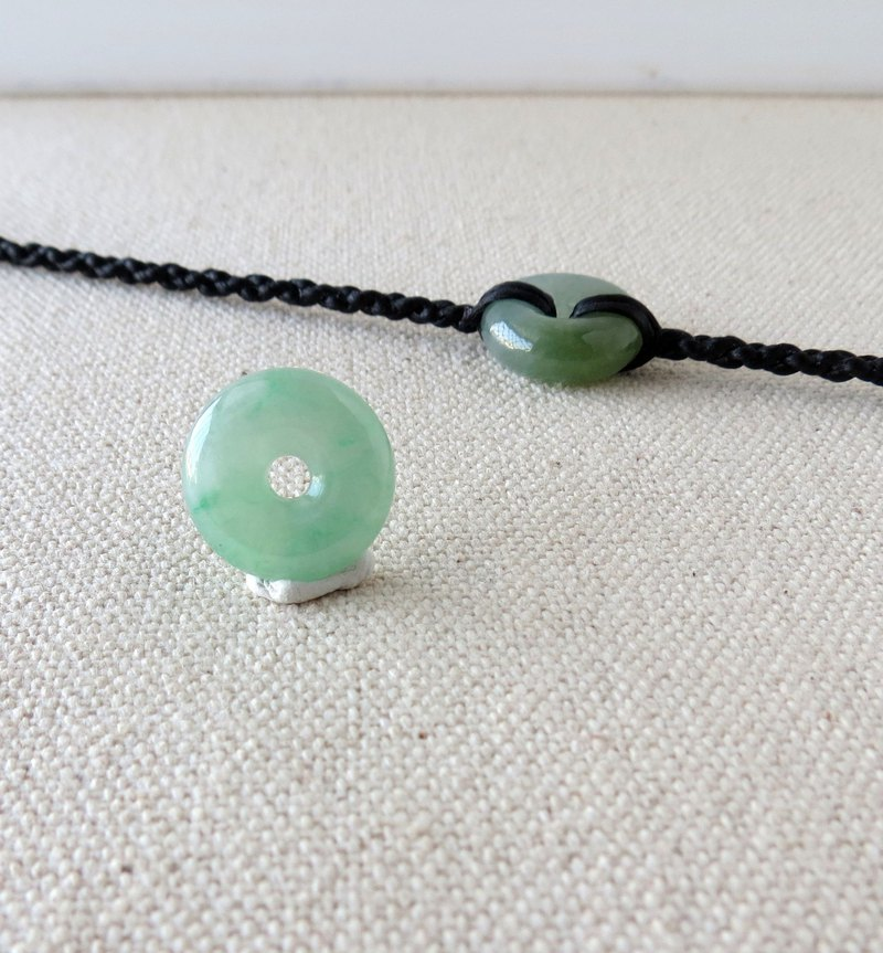Chinese New Year 【Lucky‧Ping An】 Flying Green and Ping An Emerald Silk Wax Bracelet * Four Strands [BG2]