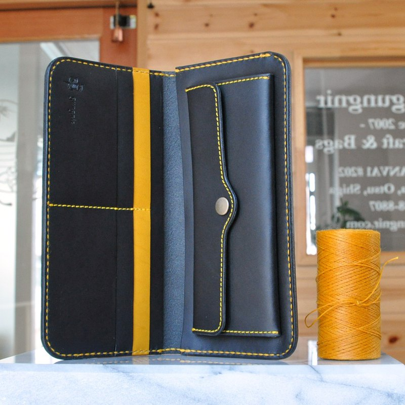 Simple wallet B No.5 Buttero