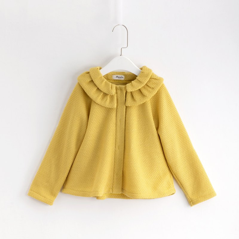 Peng collar coarse wool knitted coat