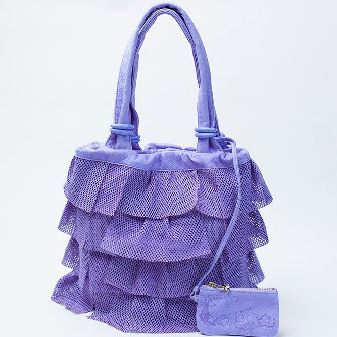 Q'iiira ULOCO leather tote Msize purple