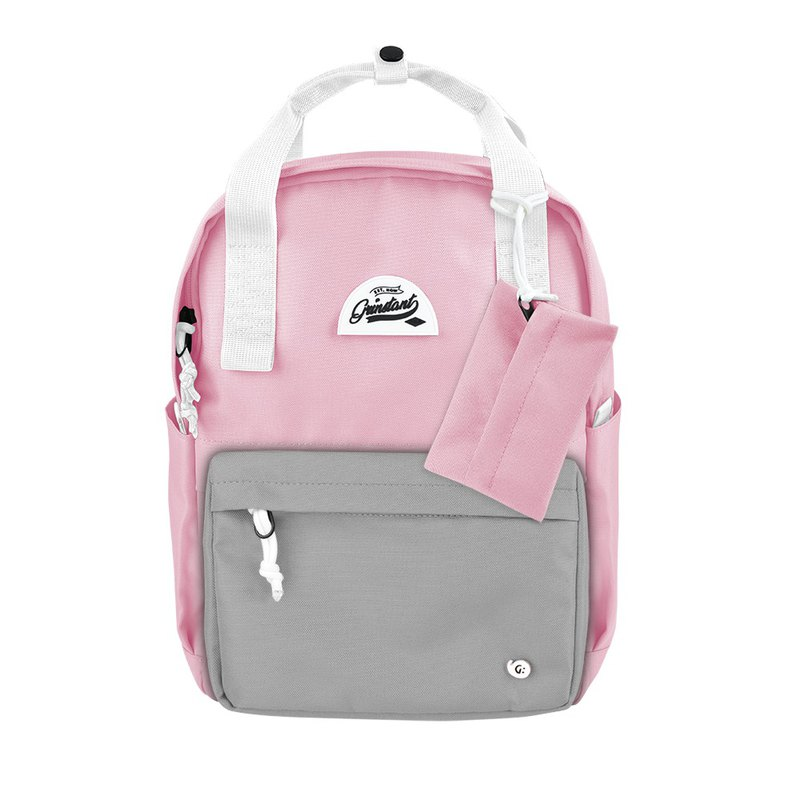 Grinstant mix and match detachable group 13-inch backpack-Dream Series (pink with light gray)