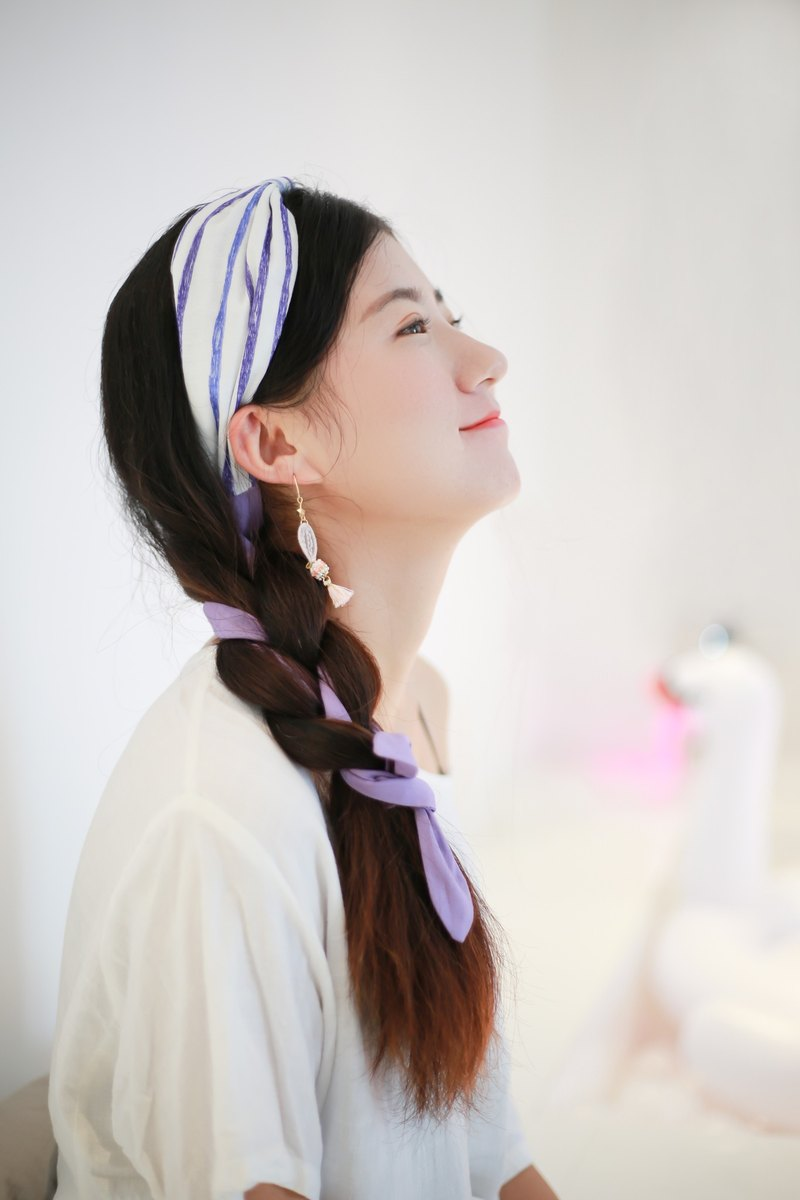 Deer chestnut original design Japanese fresh art hoop cotton and linen DIY hair band