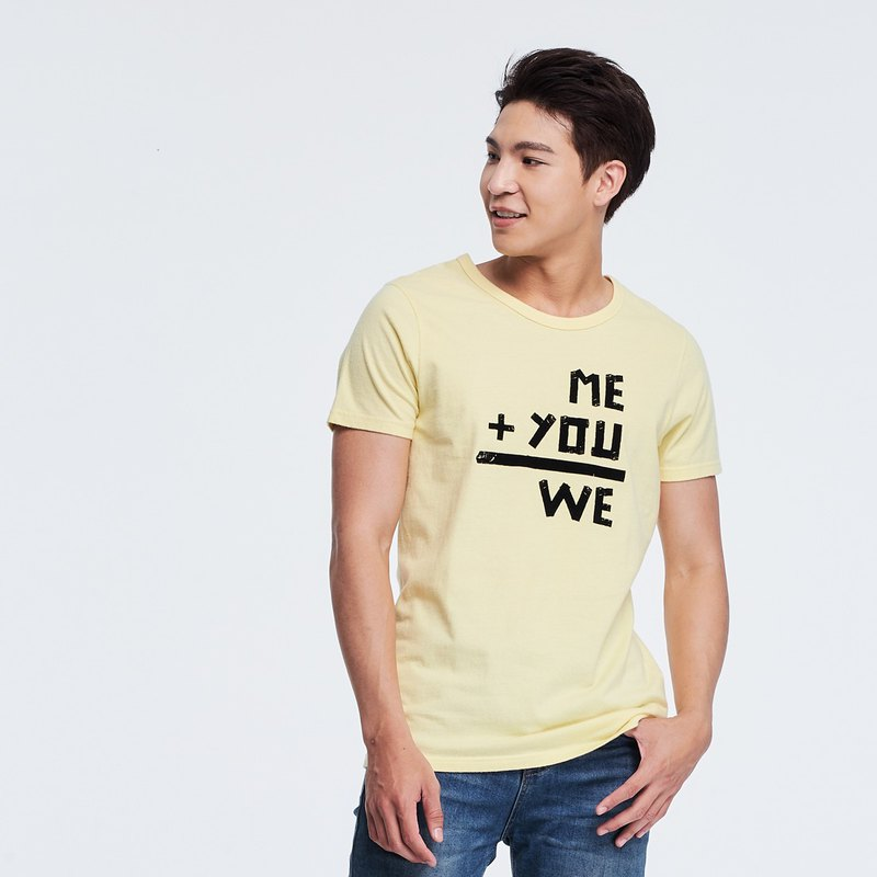 WE male short-sleeved peach cotton tee yellow