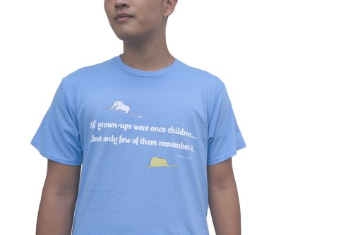 Little Prince Classic Edition Authorization - T-shirt: 【Pure】 adult short-sleeved T-shirt, AA09
