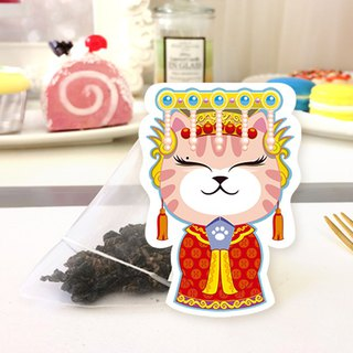Cat tea tea Aunt Zu Yushou tea bag Japanese cute handmade cat shape tea bag creative wedding birthday gift holiday gift with hand
