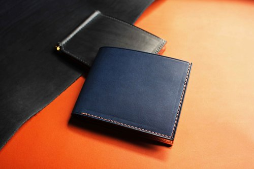 【VW02 Bi-fold Wallet】Leather Wax Multi-Colored Optional (Can be Free to Color)