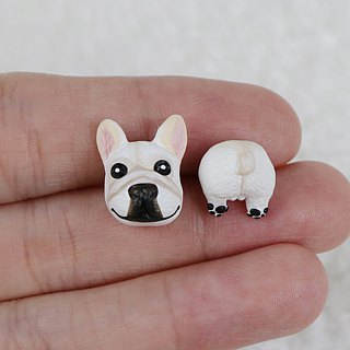 Bucket dog single earrings (ear needles / ear clip) | hand | animals | accessories | jewelry |