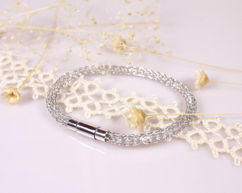 Mesh Crystal Series-925 Silver Natural Crystal Ring He Ji Meng - Fine - White K gold electroplating models