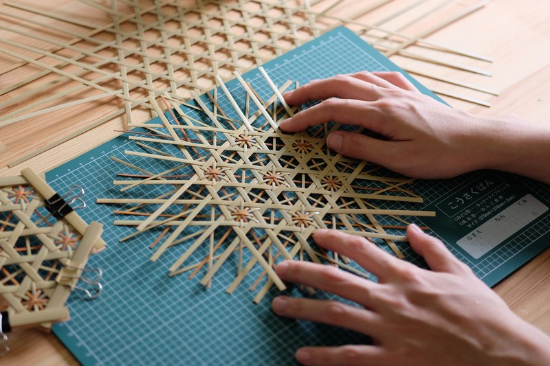 Daily Use - Hexagonal Chrysanthemum Pattern Potting Weaving Experience Workshop