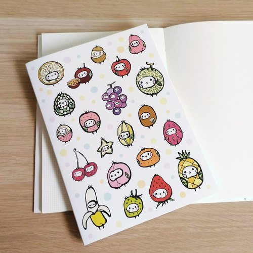 Seed cloth bio - fruit seed line plastic / checkered / notebook