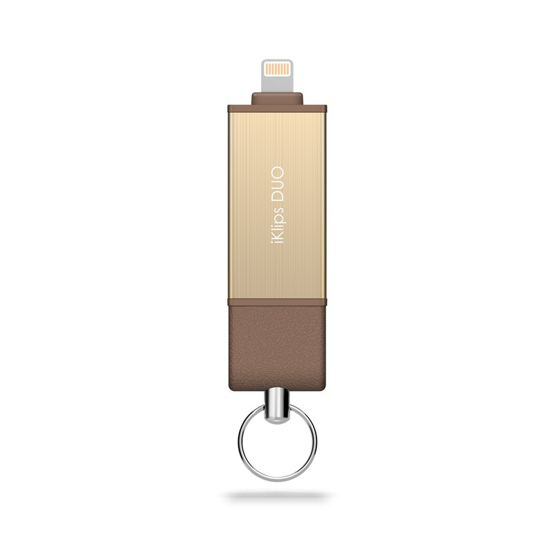 iKlips DUO Apple iOS Speed ​​Two-way Pen Drive/Disc 32GB Gold