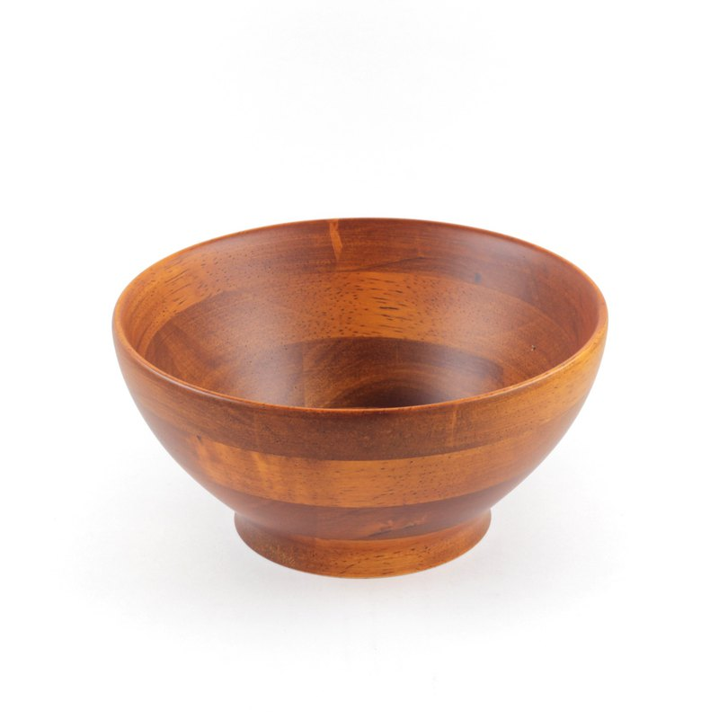 | Qiaomu | Wooden sweet soup bowl (dark wood color) / wooden bowl / soup bowl / bowl / concave bowl / rubber wood