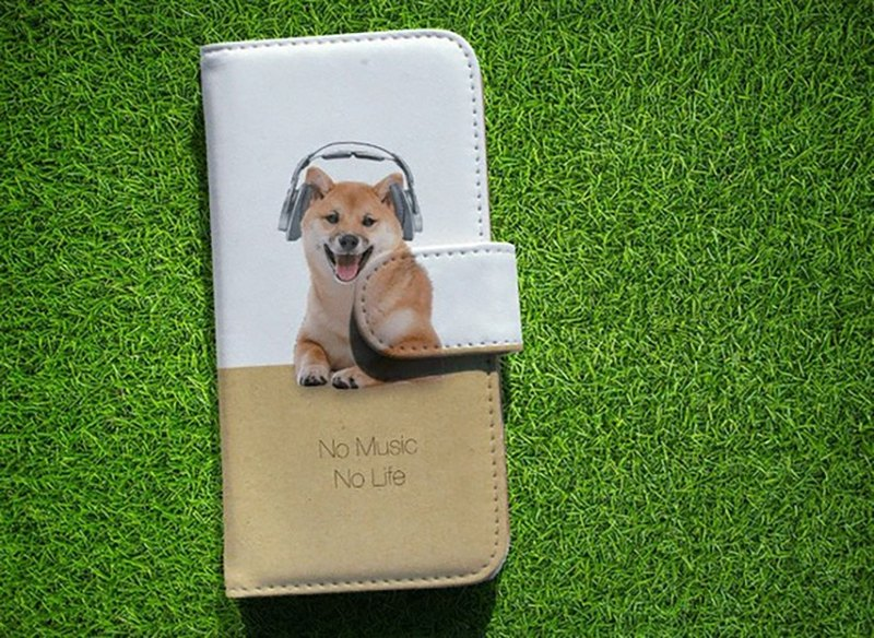 【All models compatible】 Free shipping 【notebook type】 Shiba Inu No Music No Life smart case