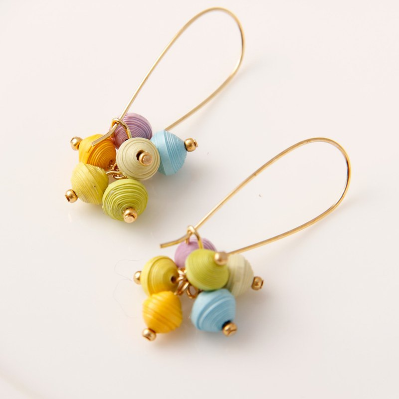 Musev Colorful Ball Long Hook Earrings