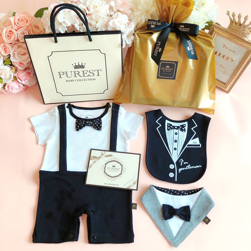 PUREST British Little Prince [Golden Deluxe Edition] Fu bag gift box group / baby Mi Yue / gift preferred