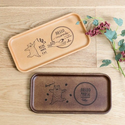Hello Marche. Rectangular Tray Leisure Bear / Bear ✦PINE✦