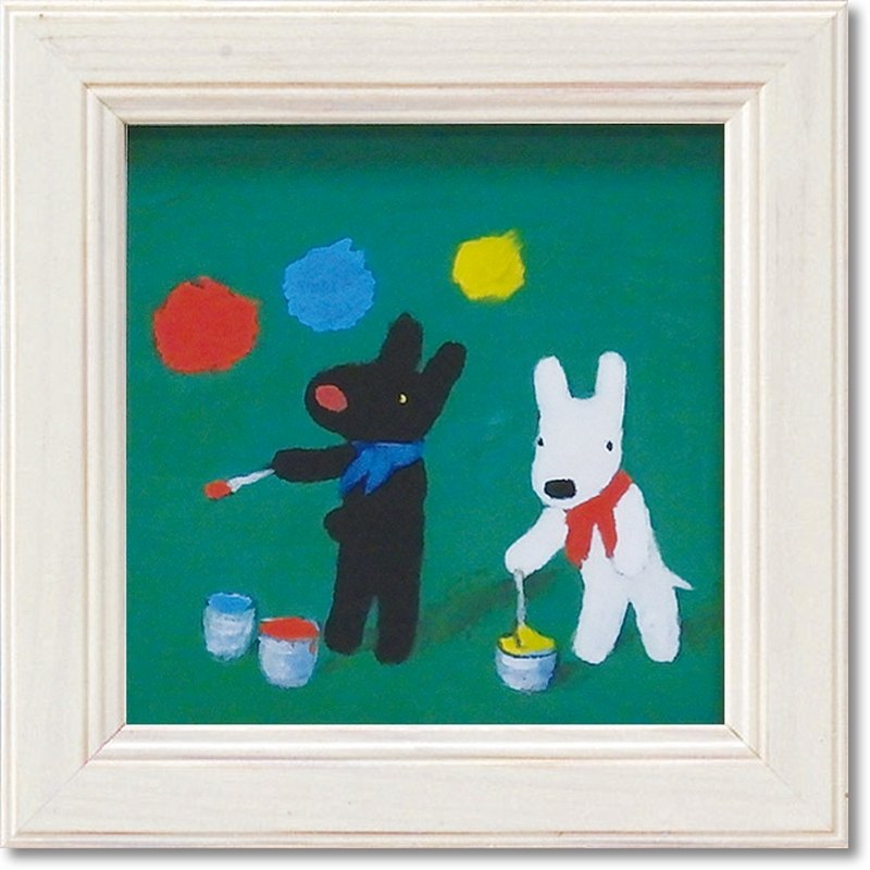 Lisa and Casper - Miniature Framed Copy Painting - Paint