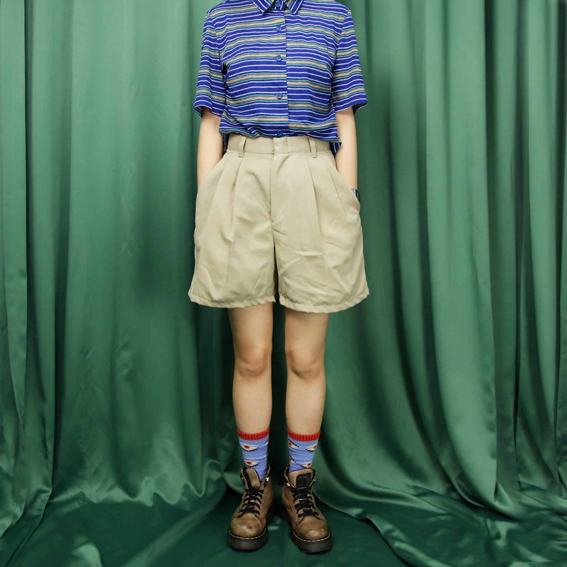 Tsubasa.Y ancient house 003 khaki vintage discount shorts, casual outdoor summer