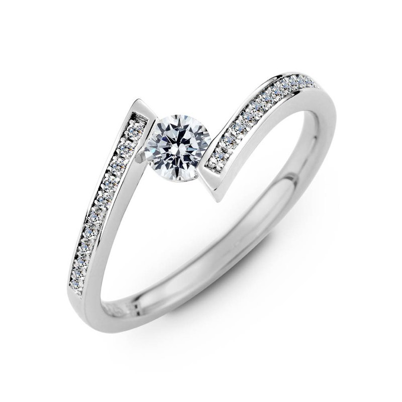 :: Free Lettering :: Star Story Engagement Diamond Ring-Platinum (Platinum) / 30 Diamonds