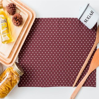 Placemat -  Dot Brown