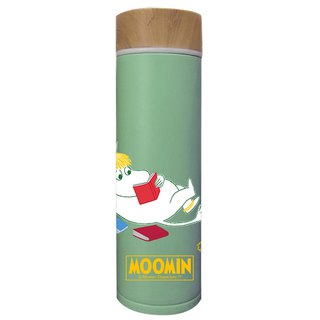 Moomin Moomin rice - wood cover thermos (green)