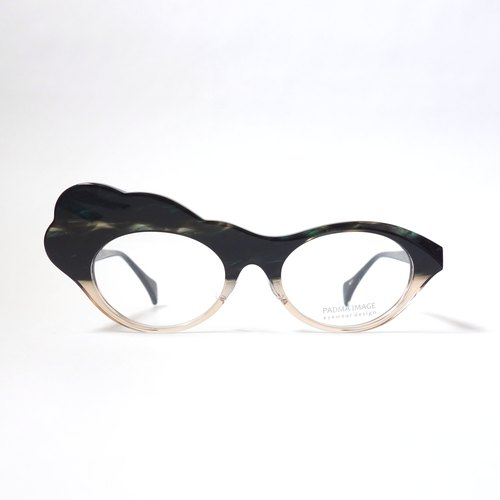 Moku-Moku col.122 (dark green / beige) eyewear glasses