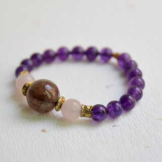 [紫艳] red copper titanium amethyst design bracelet