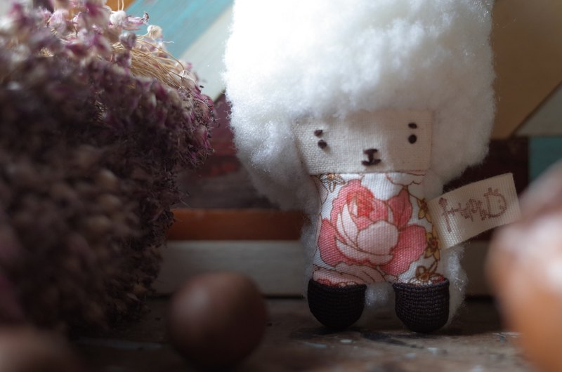 Doll Bunny - White Snow Hair - Red Flower - 2018007