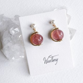 Strawberry Quartz Non allergic earrings