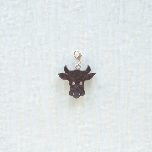 Cow wooden charm
