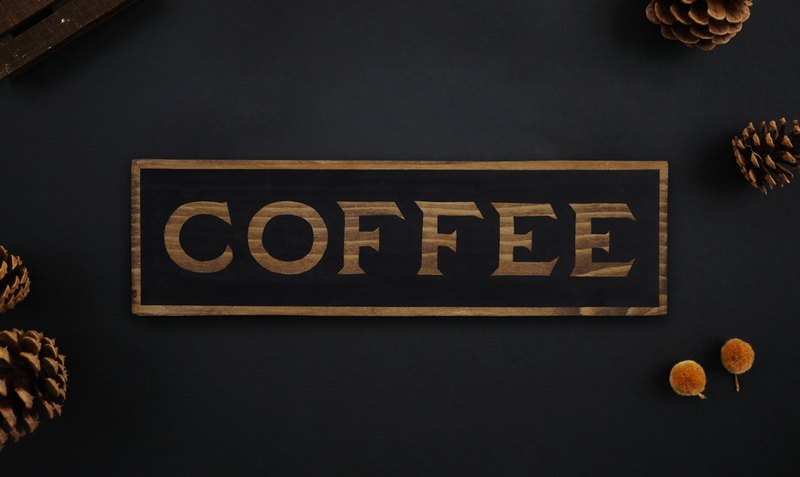 Coffee Sign Home | Coffee Decor | Hand Painted Wooden Sign | Rustic Wood Sign