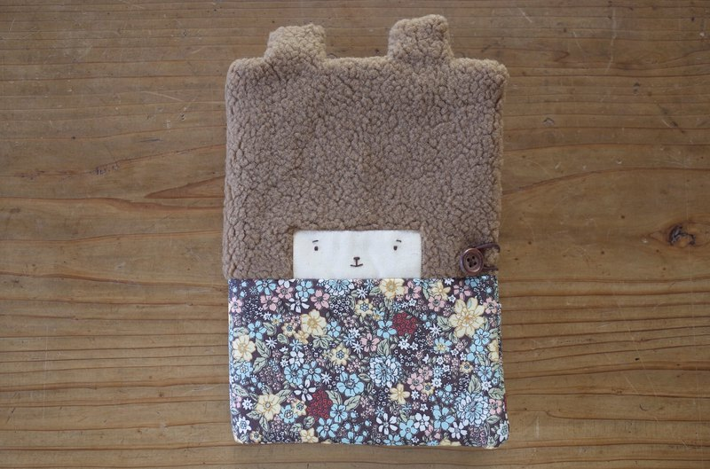 Doo Bunny Mom Handbook / Baby Handbook Cover - Coffee Hair - Blue Night Flower