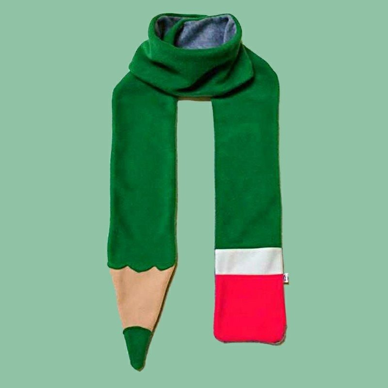 Mr.Wen - Green Pencil Scarf