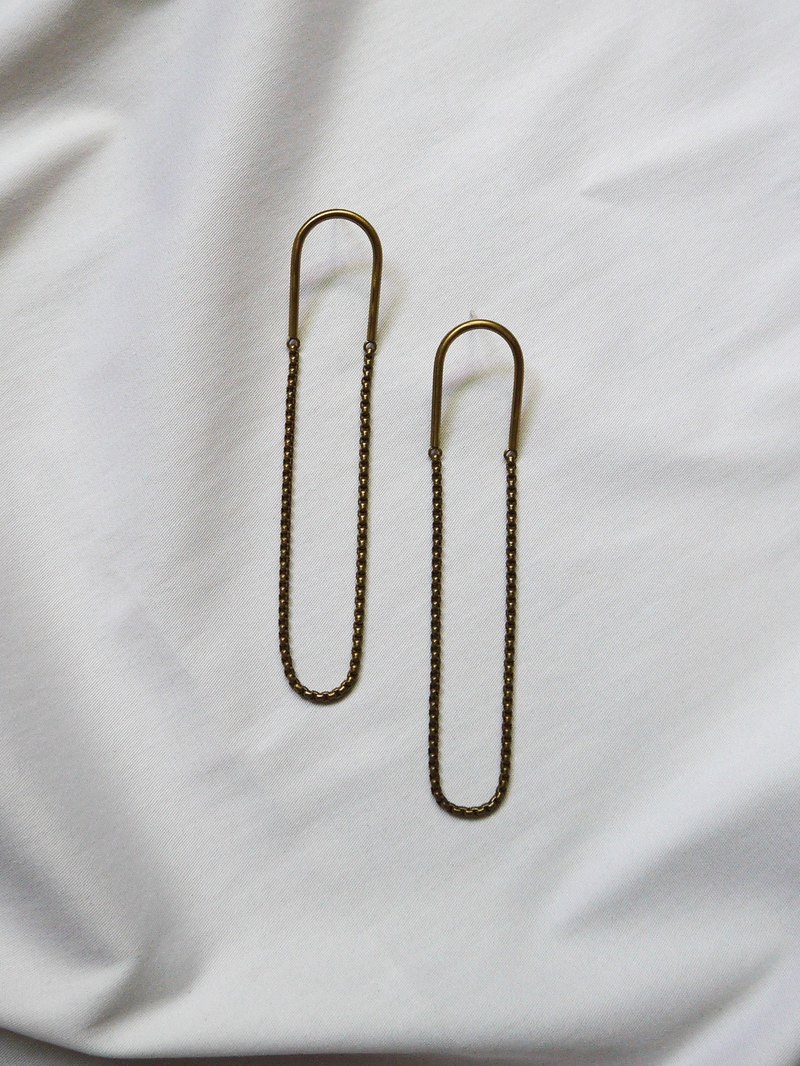 Loop - Brass Earrings