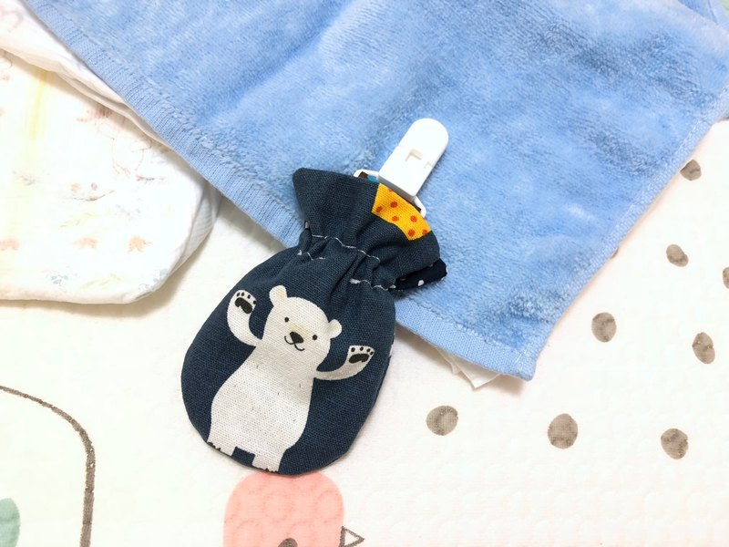 Naughty polar bear. Surrender. Blue / small kite safe bag. Pouch bag. Dragon Boat Festival sachet bag. Storage bag