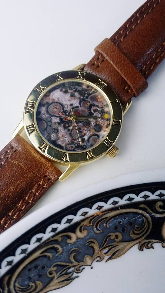 【Lost And Find】Natural  panther agate watch