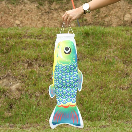 Taiwan Fish Flag 60 CM (Blue-Green)