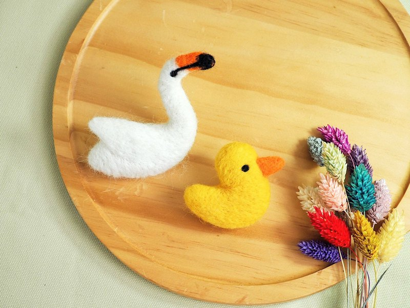 Swan Yellow Duck Pin