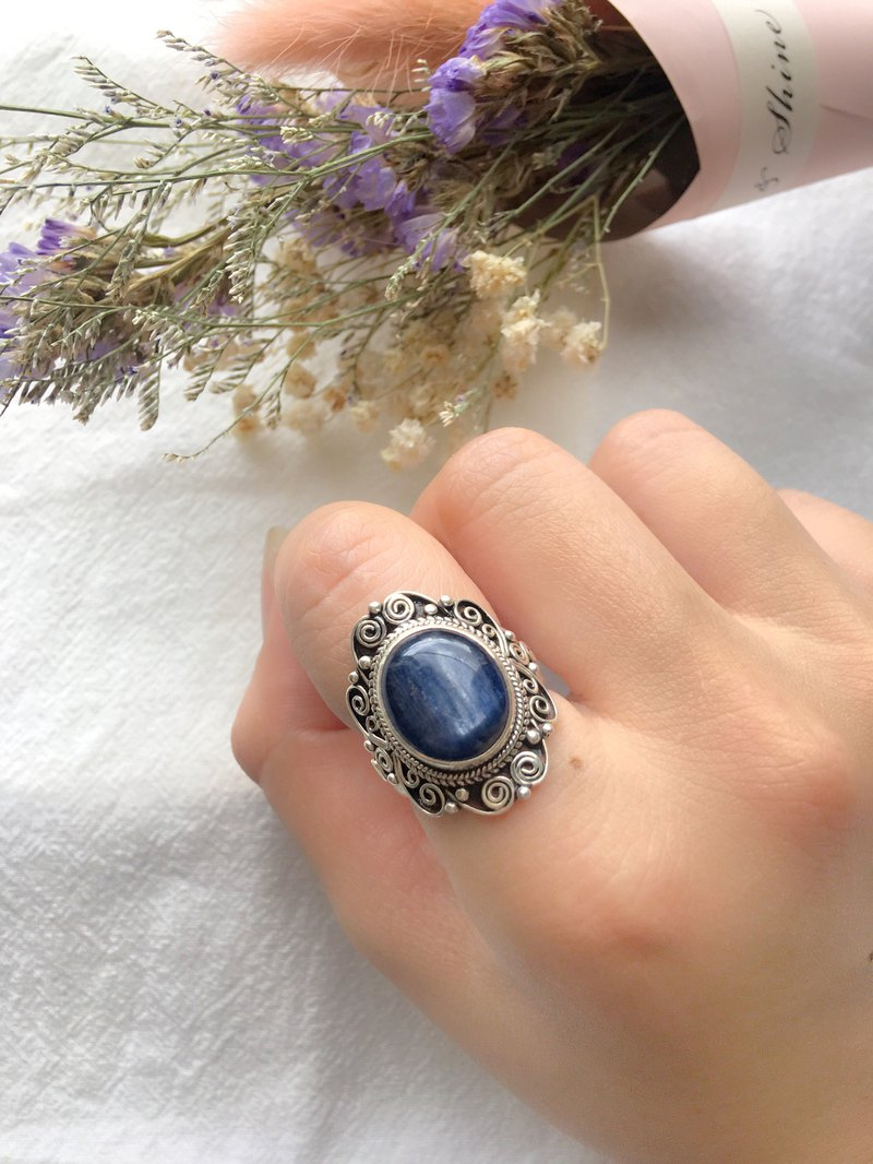 Kyanite 925 Sterling Silver Exotic Lace Ring