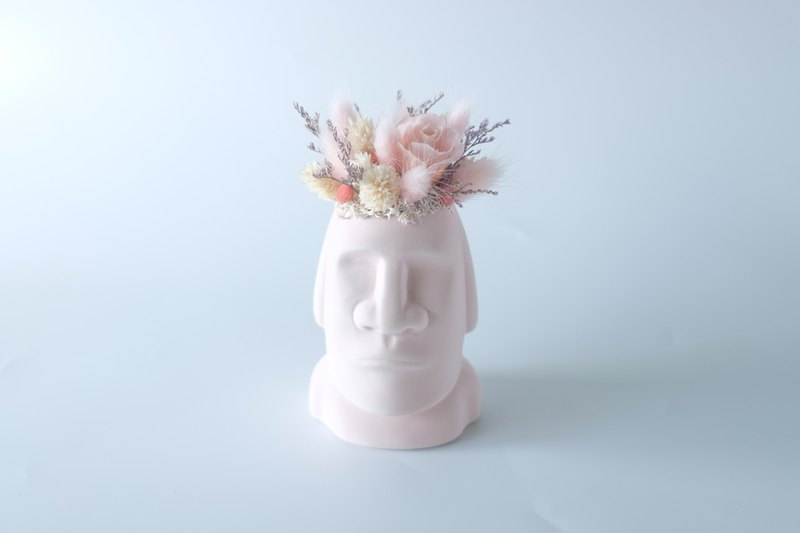 [The face of the giant] Moai (powder) pink / white / no withered flowers / eternal flowers / dry flowers / potted plants