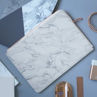 POSH | Ultra Slim Faux Leather Sleeve for MacBook Pro w/USB-C  (Marble)