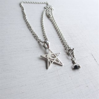 Shooting Star - Silver chain necklace