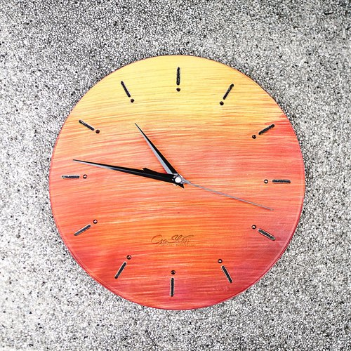 Time Commitment Leather Clock | Wall Clock
