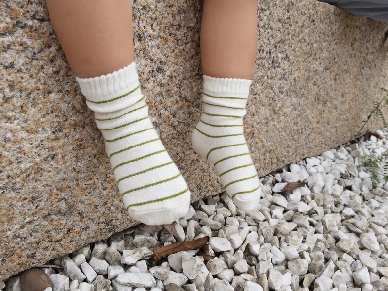 HOMIST Tongwa --1-3 years stripes style / grass green
