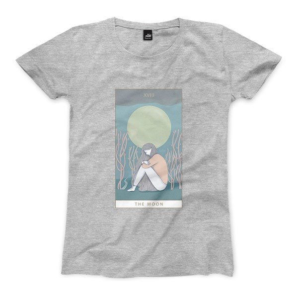 XVIII | The Moon - Deep Heather Grey - Women's T-Shirt